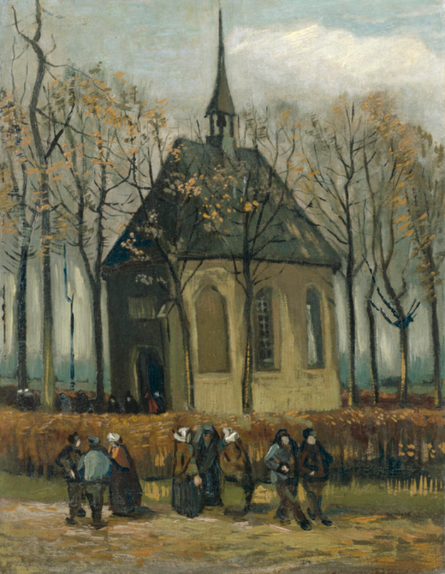 """''Nuenen Reform Kilisesi'nden Çıkan Cemaat"""" (1884/85)"""