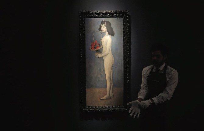 Picasso'nun Çiçek Sepetli Kadını en pahalı eser olma yolunda