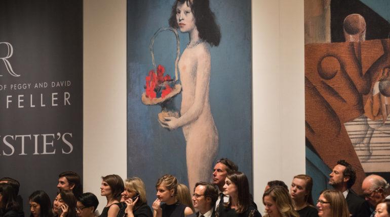 Tarihe geçen müzayedede Picasso'nun tablosu 115 milyon dolara satıldı
