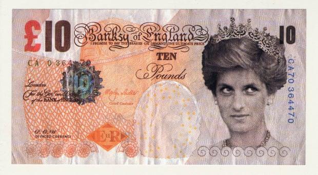 Banksy'nin yaptığı Prenses Diana banknotu Bristih Museum'da